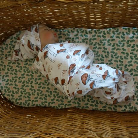 Bonnet champignons brique